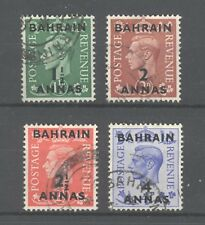 Bahrain KGVI 1950, SG 73-76, Fine Used, 2 scans, very clean.