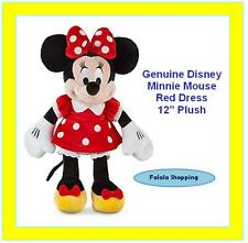 "FALALA DISNEY MINNIE MOUSE POLKA DOTTED RED DRESS 12"" PLUSH – MICKEY CLUBHOUSE"