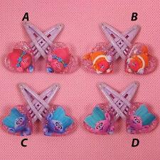 NEW TROLLS Girls toddler Hair clips clip pair set pair party stock in Australia