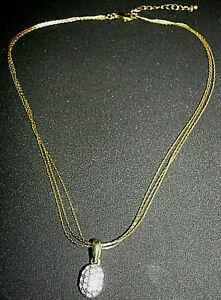 Multi Chain Necklace Pendant Oval Czech Crystal Fashion Jewelry Women Summer