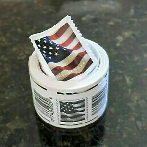 100 Pcs/Roll Stamps USPS 2017 Free Shipping New US Forever Flag Postage Stamps