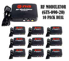 10 Pack RF Modulator TV Switch AV RCA Ant Input to F Type Coax Output Converter