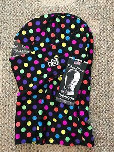 Black Strap BS Adult The Hood Balaclava Facemask Ski Snowboard Mask Polka Dots