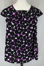 Motherhood Maternity Womens Ladies Black Polka Dot Cap Sleeve Top Size Small