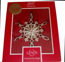 "Lenox 2017 Annual "" Snow Majesty Snowflake "" Christmas Ornament ~ New in box"
