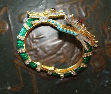 ULTRA RARE & COVETED Kenneth Jay Lane KJL Double Headed Dragon Bracelet Cuff New