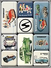 Trabant set of 9 mini fridge magnets in box    (na)