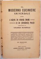 VALERIO BUSNELLI IL MODERNO CUCINIERE UNIVERSALE OSSIA L'ARTE DI VIVER BENE 1930