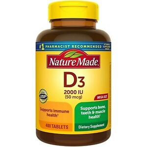 Nature Made Vitamin D3 Tablets 2000 IU (50 mcg) 400 ct