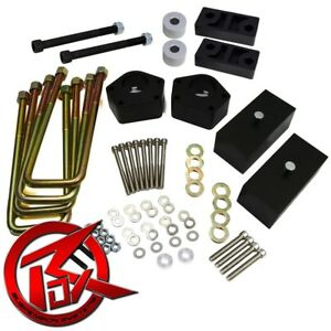 """Fits 86-95 Toyota Pickup T100 3"""" Front + 2"""" Rear Lift Kit 4WD Diff Drop Spacers"""