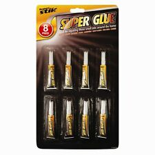 8 Pack Super Glue home office DIY for Jewellery,Rubber, paper, most Plastics -UK