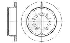 1x NPS Disco de Freno Trasero Ventilado 345mm T331A53
