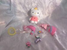"Sanrio Hello Kitty Dress Up Pop On Plastic Cloths 5"" Toy w/accessories"