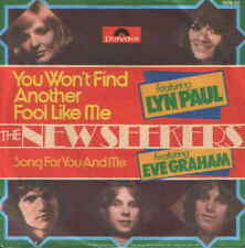 "7"" the New seekers (Lyn paul, Eve Graham) you won 't find another fool 70`s"