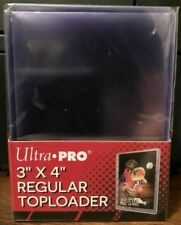 Brand New - UltraPro 3x4 Toploader Rigid Case 25 Toploaders    **READ SHIPPING**