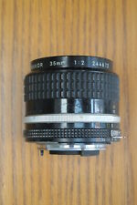 Nikon Nikkor 35mm F2 AI lens for film or digital SLR - Good User Condition