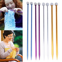 12mm Aluminum Knitting Needles Single Pointed Long Straight Smooth Weaving Tools