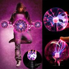 Creative USB Sphere Lightning Light Disco Party Black Base Glass Plasma Ball