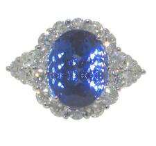 9.12 ct Women's Diamond and Tanzanite Anniversary Ring