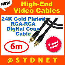 High-end NEOTECH 6m Digital Video RCA to RCA Coax Cable-24k Gold Connectors