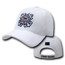 dae3073f21680 White United States US Coast Guard USCG Mesh Military Baseball Cap Hat Caps  Hats