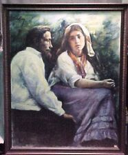 Original Evelyn Embry Pastel Painting Man Woman Couple