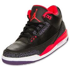Nike Air Jordan Retro 3 BasketBall Shoes Sneakers Crimson Cyan Purple 10.5