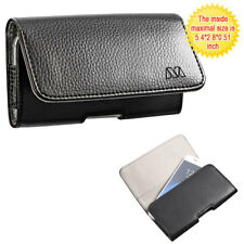 Black Leather Case Horizontal Pouch for Samsung Galaxy J3 /Amp Prime/Galaxy Sky
