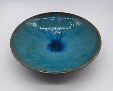 Handmade Glazed Pottery Bowl Blue