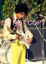 "Jimi Hendrix Photo $2 - 8x11"" Hollywood Bowl Soundcheck -Very Rare, On Sale $2"