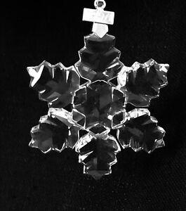 Swarovski Crystal 1996 Christmas Star Snowflake Ornament Xmas No Box Excellent