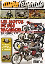 MOTO LEGENDE 258 BULTACO 125 MOTOBECANE Z22 TRIUMPH T120 HONDA CB 500 BMW R80 GS