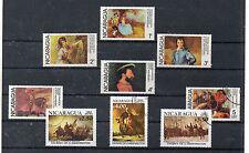 Nicaragua Pintura Valores del año 1978-82 (CT-577)