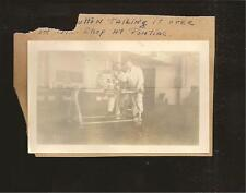 1930's B/W Photo Thompson Aeronautical Mechanics Working On Radial Engine TAC