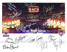 USA OLYMPIC SWIM TEAM SIGNED RP PHOTO BY 18 MICHAEL PHELPS LOCHTE SONI FRANKLIN