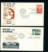LOT 75023  CANADA 2  FDC 362 362 INDUSTRY