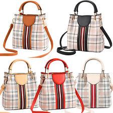 Small Crossbody Bags Purse Shoulder Handbag Women Top Handle Satchel Grid Tote