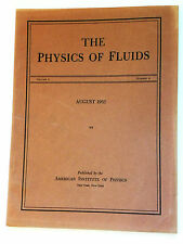 Physics of Fluids - Vol6/No8 - 1963 - vintage professional science journal