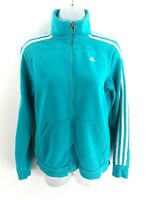 ADIDAS Womens Tracksuit Top Track Jacket 8/10 S Small Green Cotton & Polyester