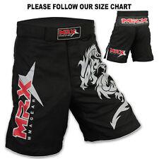 MMA Grappling Shorts Kick Boxing Cage Fight Muay Thai Dragon MRX Black, Large
