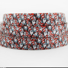 "Cat in the Hat Ribbon  1m long 1"" wide Dr Seuss"