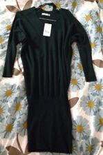 Zara Damas Vestido Jersey Verde Talla S