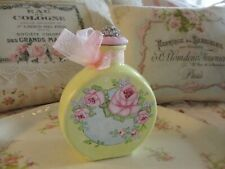 Shabby Chic Hand Painted Roses - Decorative Bottle - Yellow