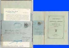 61413 - ITALIA Regno  - STORIA POSTALE - FASCETTA su libretto di ARIOSTO 1863 !