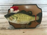 Big Mouth Billy Bass Singing Fish Santa Hat Bell Dances Works Rubber Wall Hang