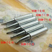 5PCS 900M-T-0.8D 1.2D 1.6D 2.4D 3.2D soldering Tips 936 soldering station