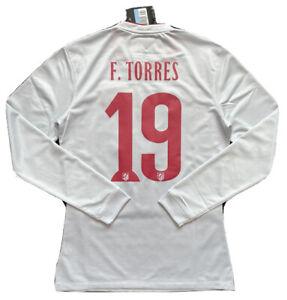 2014/15 Atletico Madrid Away Jersey #19 F.Torres Medium Authentic LongSleeve NEW