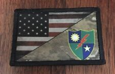 Rangers Crest Multicam US Flag Morale Patch Tactical Military Army USA