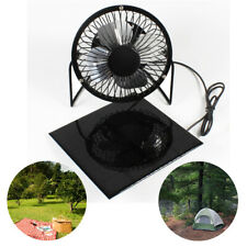 Solar Panel Fan Portable Ventilator for RV Greenhouse Roof Tree House Camping