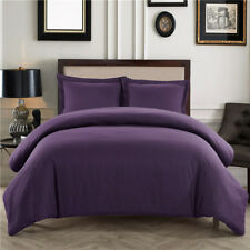 Luxurious Solid Bedding Duvet Quilt Cover Set Pillowcase US Twin/Queen/King Size